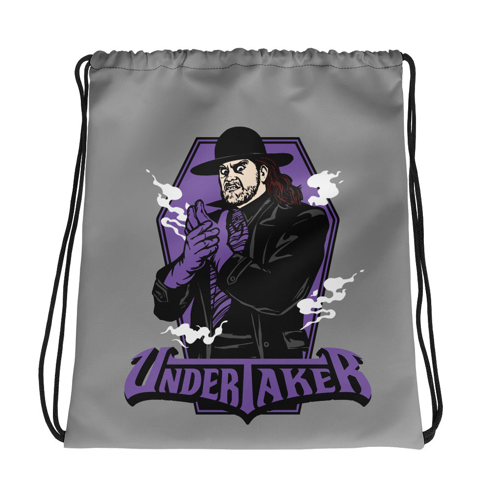 Undertaker Illustrated Drawstring Bag