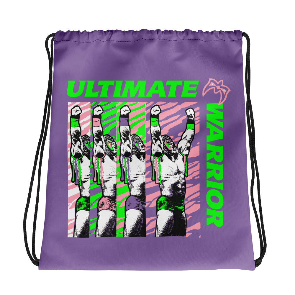 "Ultimate Warrior ""Feel The Power"" Drawstring Bag"
