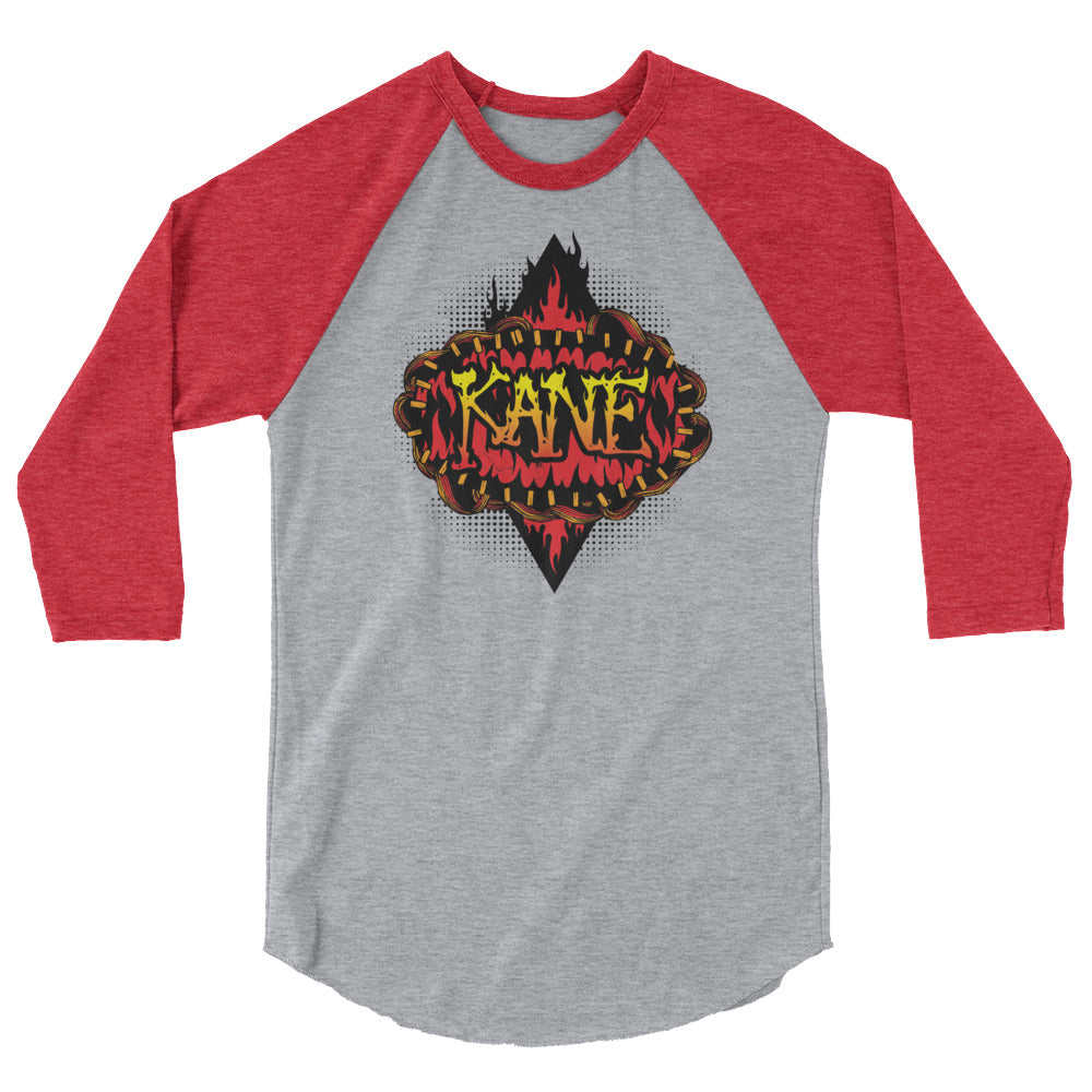 "Kane ""Burned"" 3/4 Sleeve Raglan Shirt"