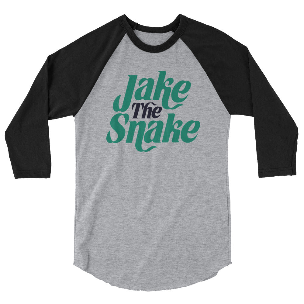 "Jake The Snake Roberts ""Logo"" 3/4 Sleeve Raglan Shirt"
