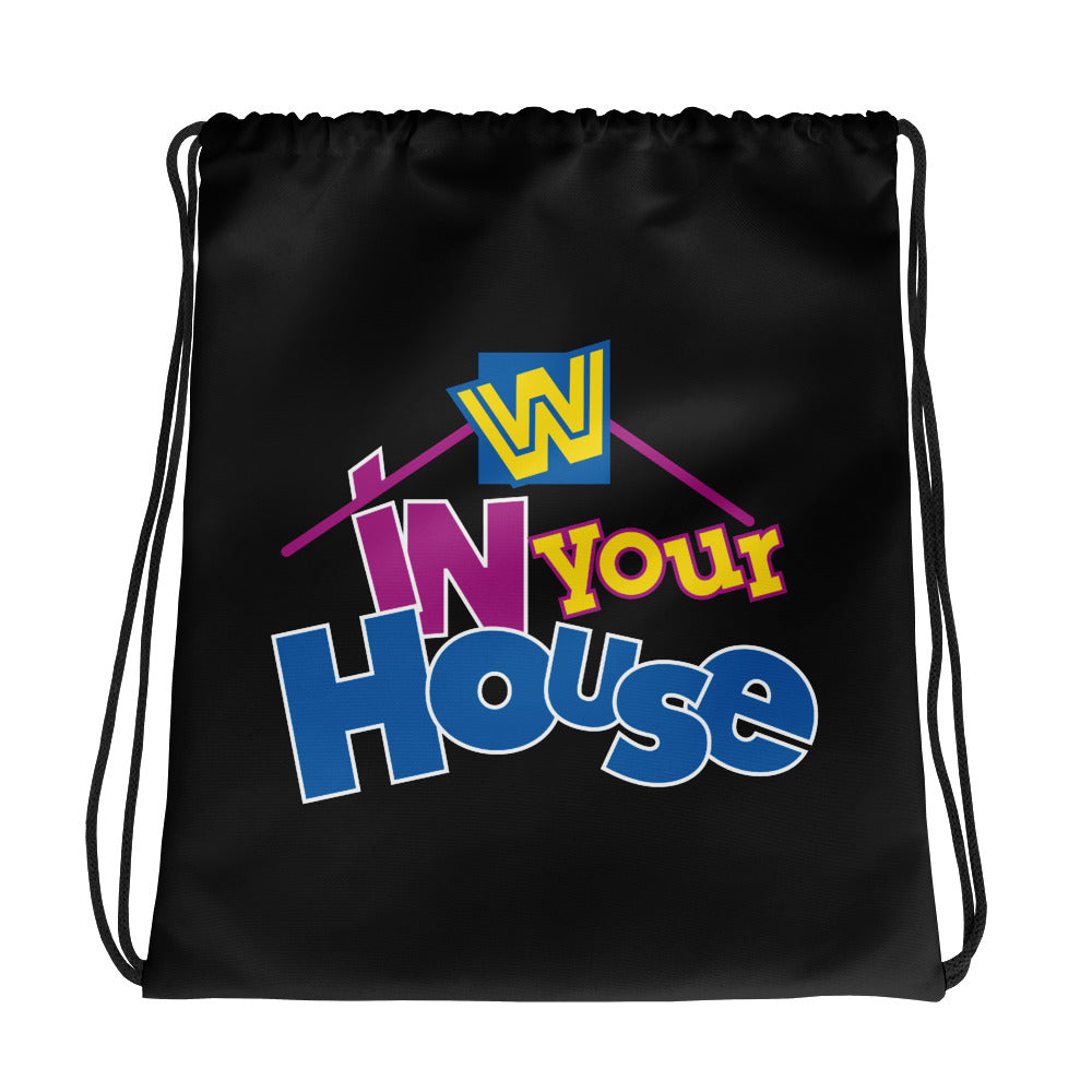 "WWE ""In Your House"" Old School Drawstring Bag"