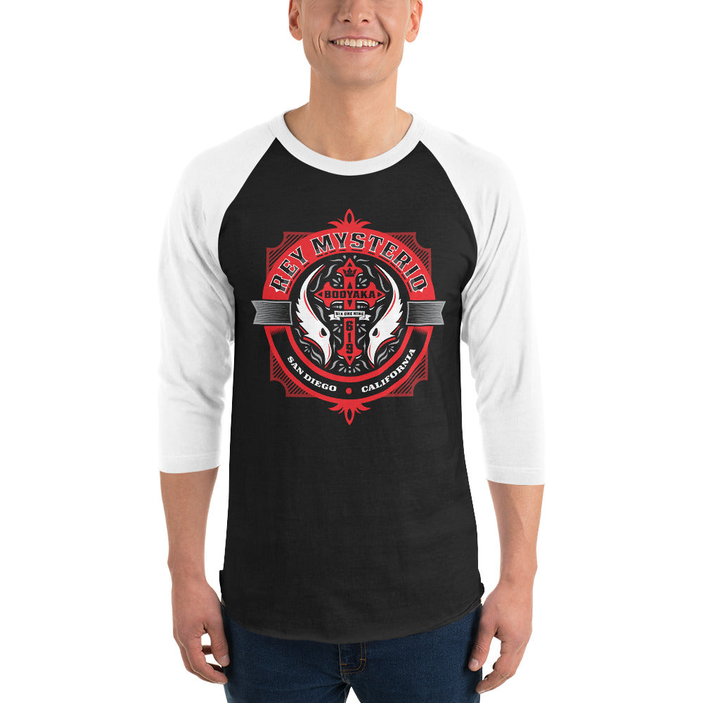 "Rey Mysterio ""Badge"" 3/4 Sleeve Raglan T-Shirt"
