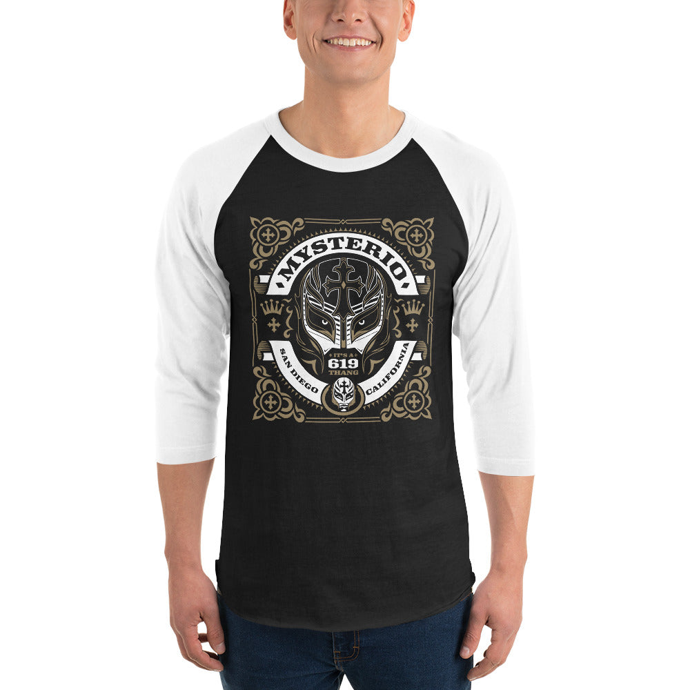 "Rey Mysterio ""Scroll"" 3/4 Sleeve Raglan T-shirt"