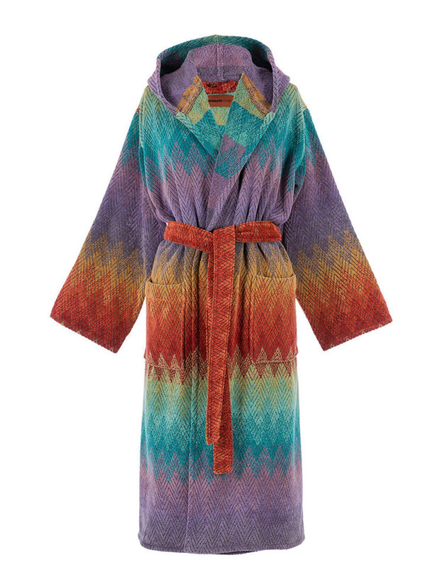 Missoni Home Yaco Hooded Bathrobe freeshipping - Nour Butikken
