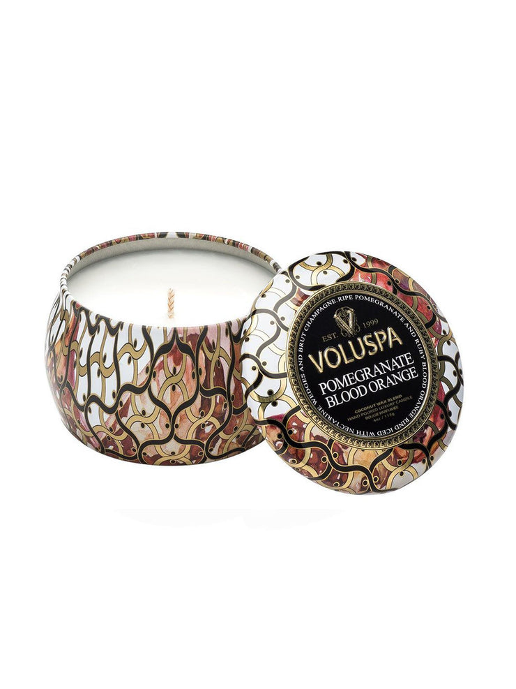 Voluspa Decorative Tin Candle - Pomegranate Blood Orange freeshipping - Nour Butikken