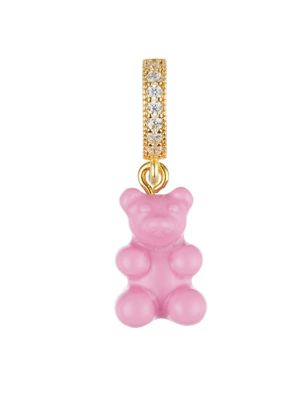 Crystal Haze Nostalgia Bear, Pave Connector - Candy Pink Smykker freeshipping - Nour Butikken