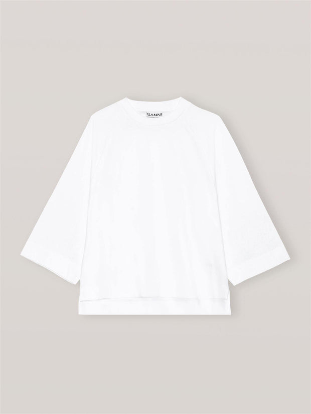 Ganni Basic Cotton Jersey - Oversize T Shirt Light freeshipping - Nour Butikken