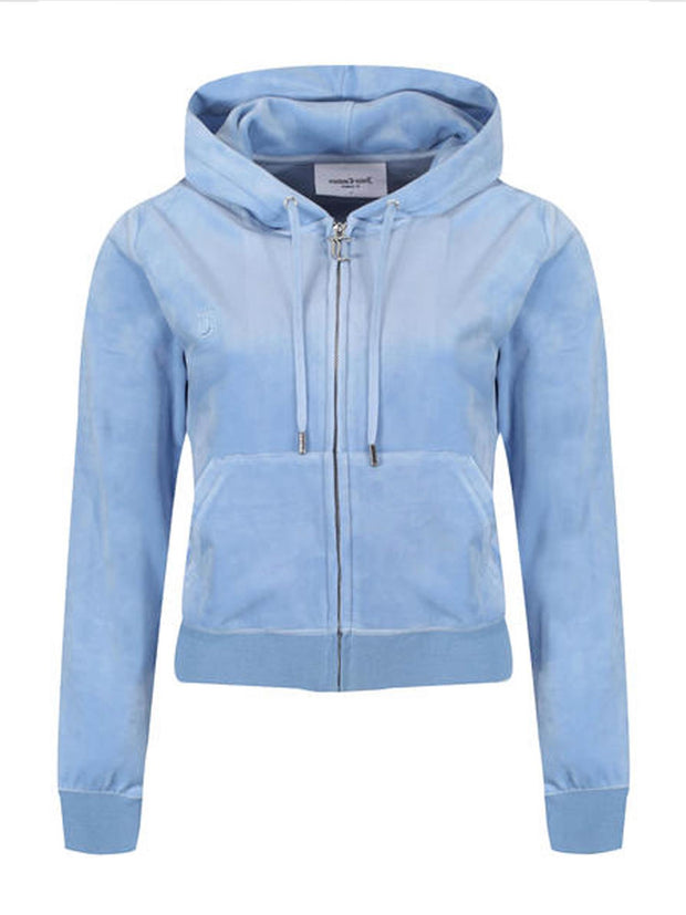 Robertson Classic Zip Through Hoodie - Robia Blue