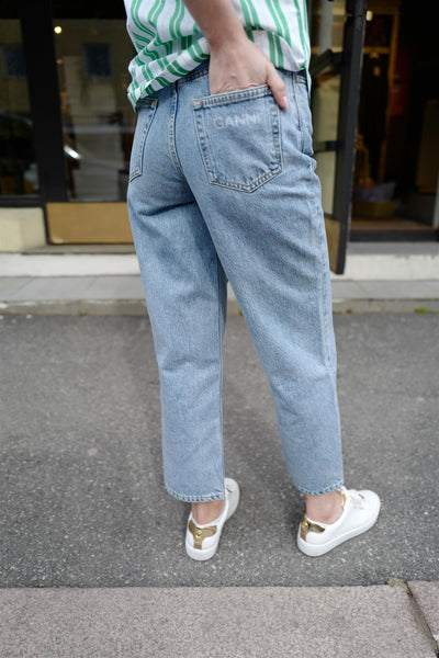 High Rise - Relaxed Acid-Wash Jeans