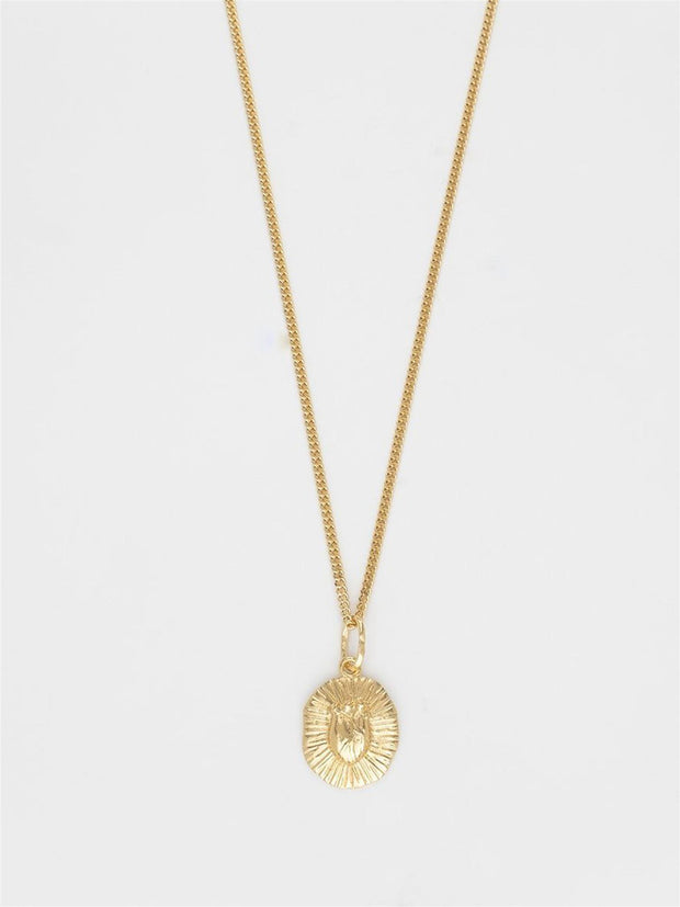 Bjørg Jewelry Iconic Heart Necklace - Embossed Smykker freeshipping - Nour Butikken