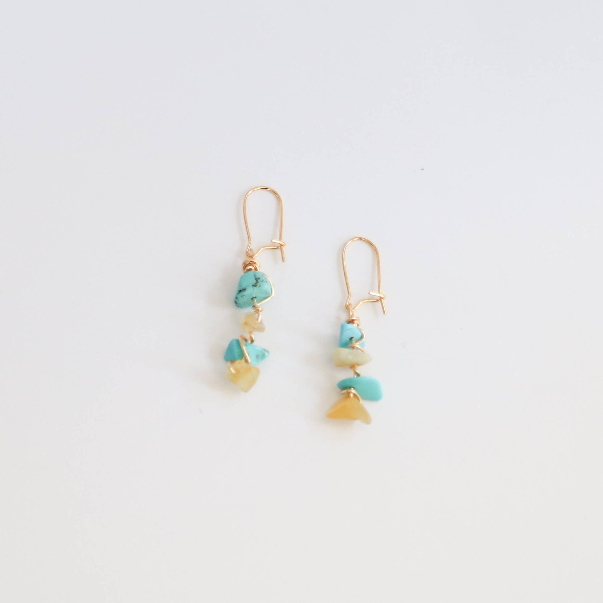 Turquoise & Citrine Dangle Earrings