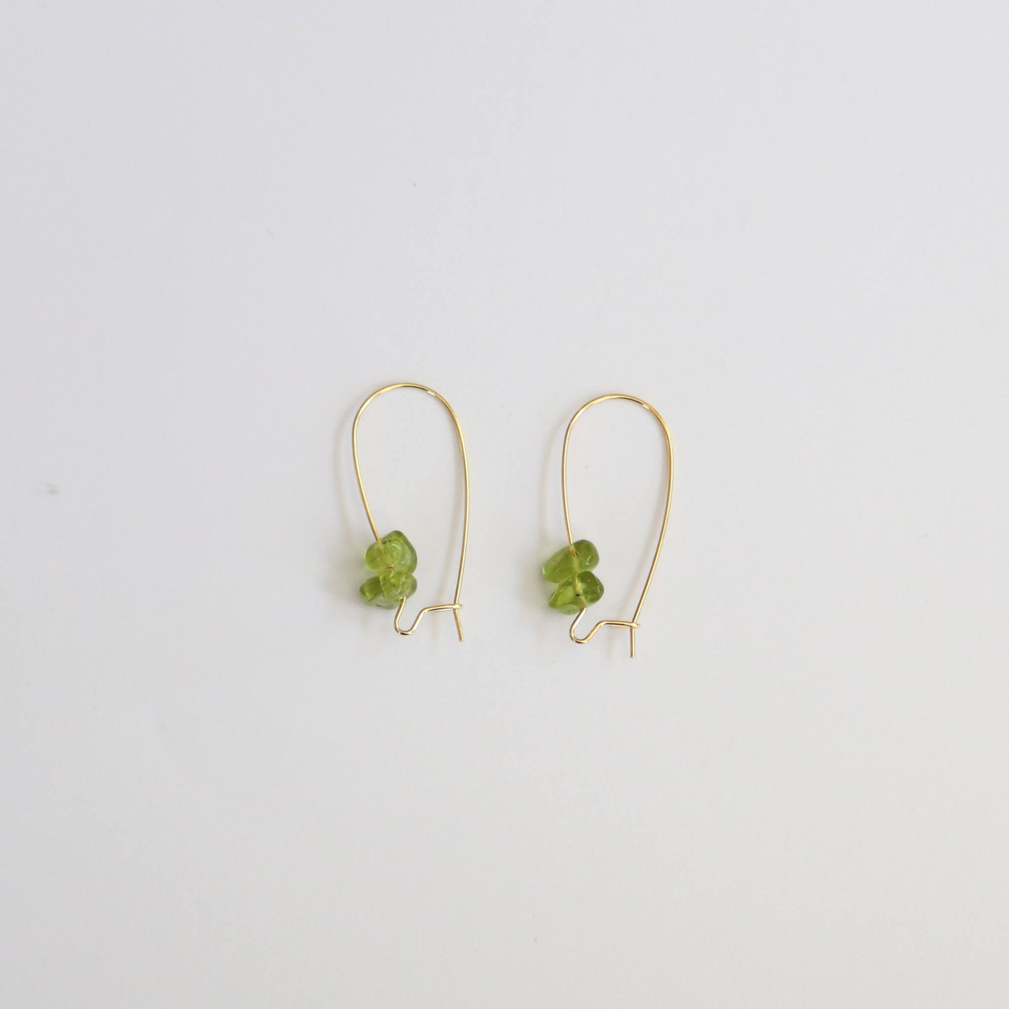 Peridot Gold Hoop Earrings