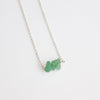 Green Aventurine Sterling Silver Necklace