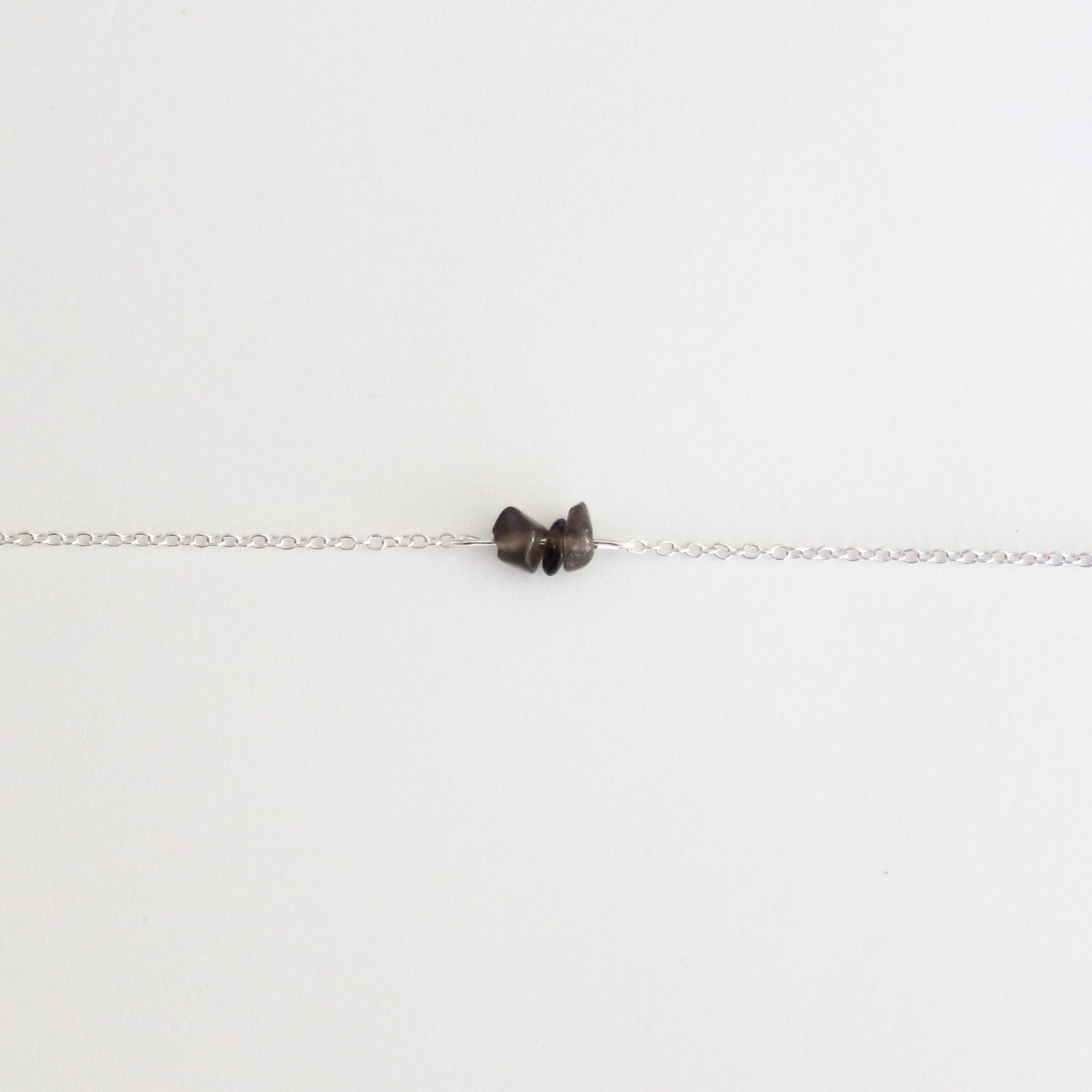 Smoky Quartz Sterling Silver Anklet