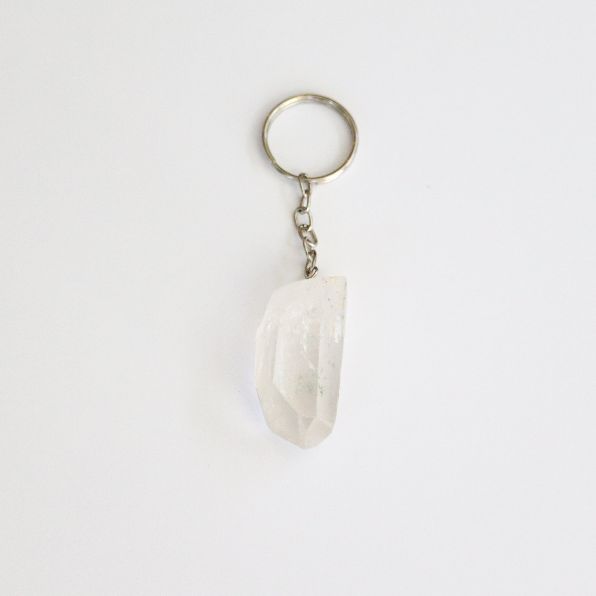 Clear Quartz Keychain