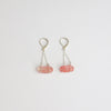 Strawberry Quartz Sterling Silver Chain Earrings