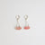 Strawberry Quartz Sterling Silver Earrings