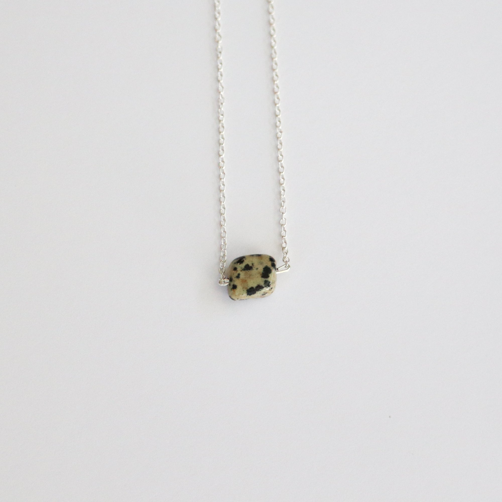 Dalmatian Jasper Sterling Silver Necklace