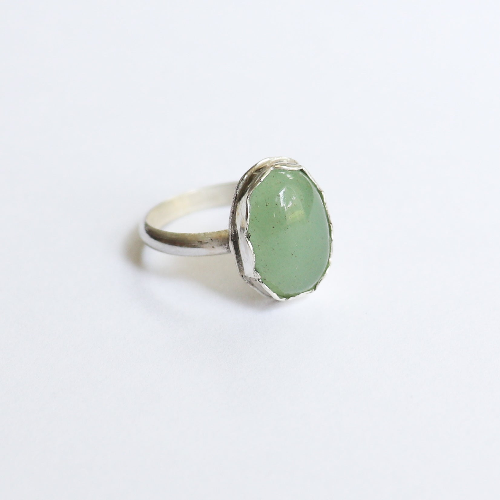 Green Aventurine Sterling Silver Ring