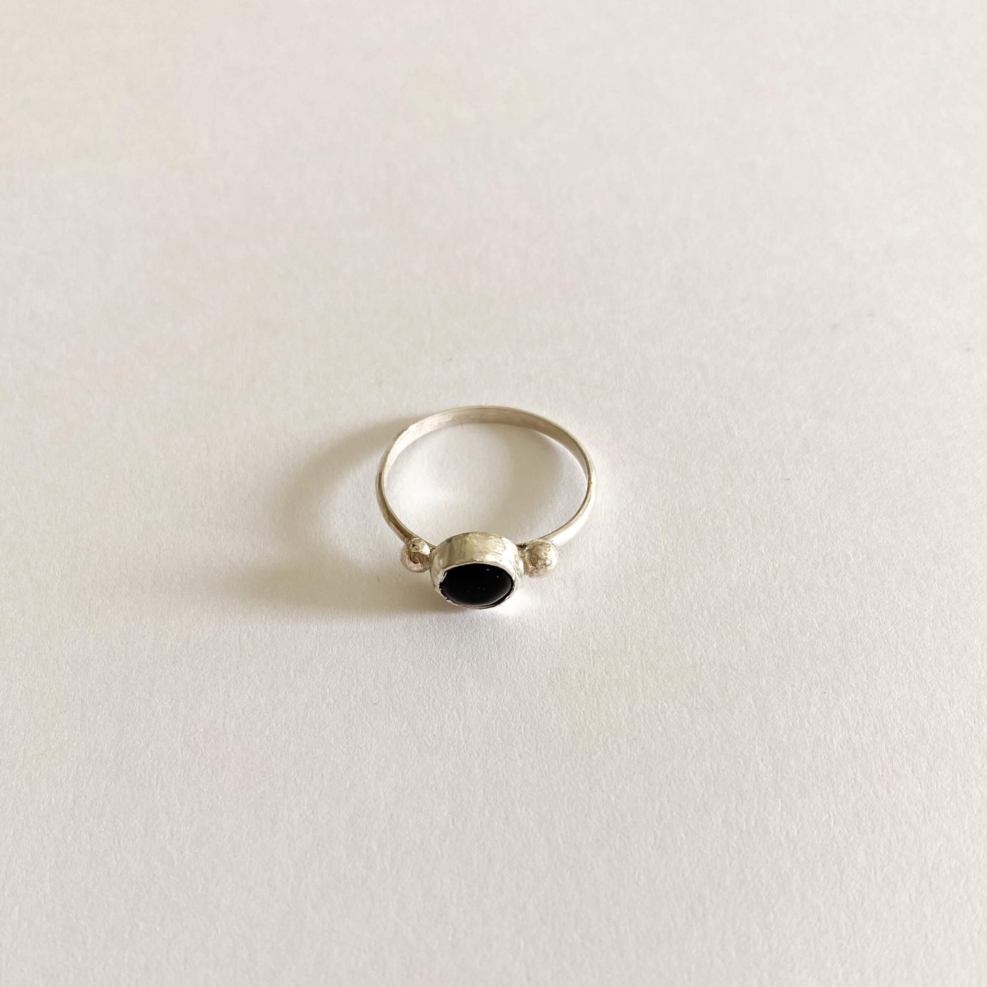 Obsidian Sterling Silver Ring