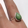 Lime Green Turquoise Sterling Silver Ring