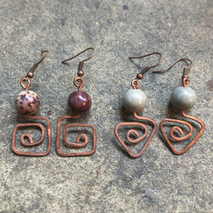 Iconic Geo Jasper Earrings