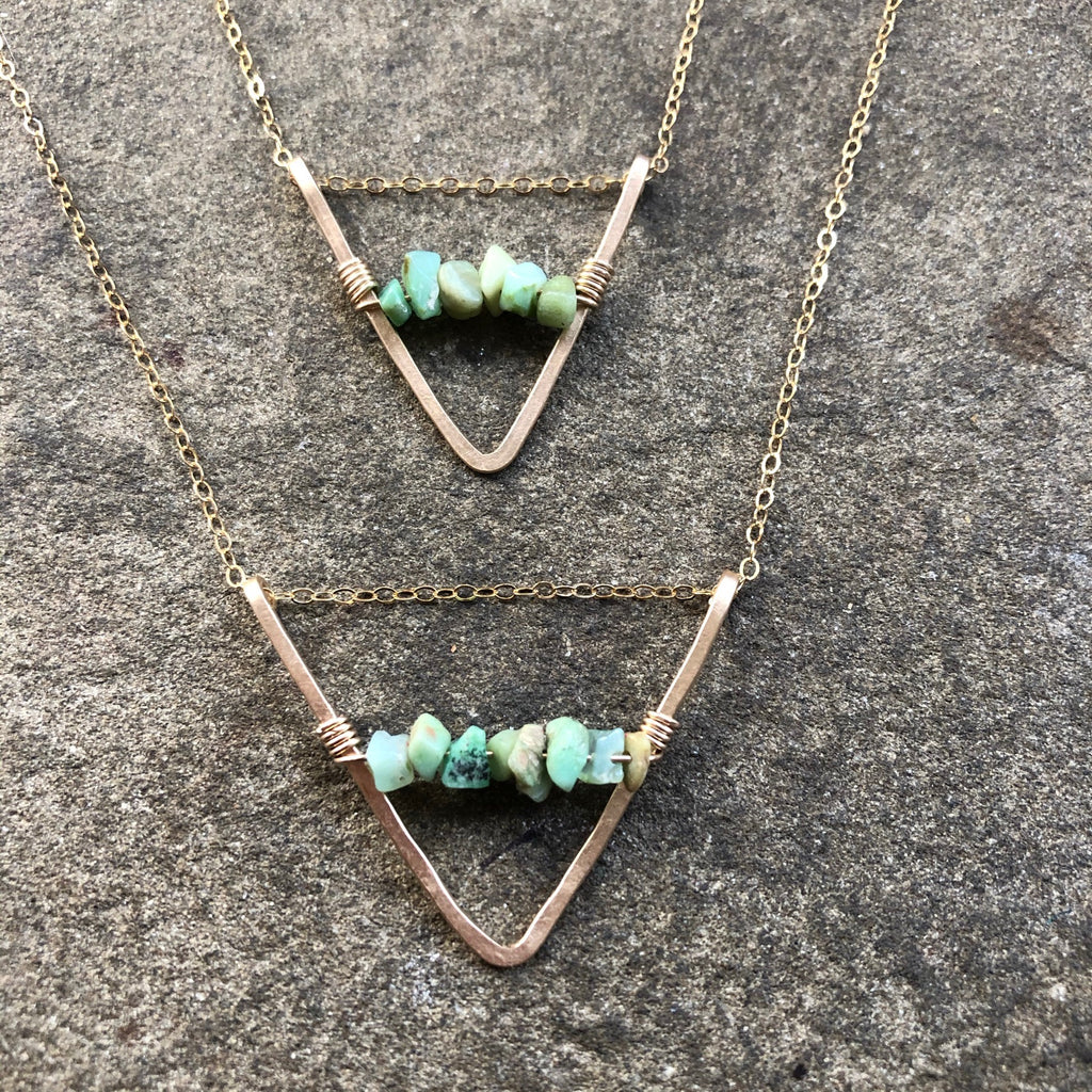 Gold Chevron with Prehnite