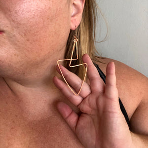 Interwoven Angle Earrings (Style 3)