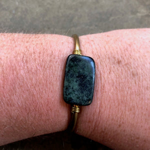 Rectangle Marble Crystal Cuff