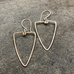 Sterling Silver or Gold Bold Faceted Hoop Earrings