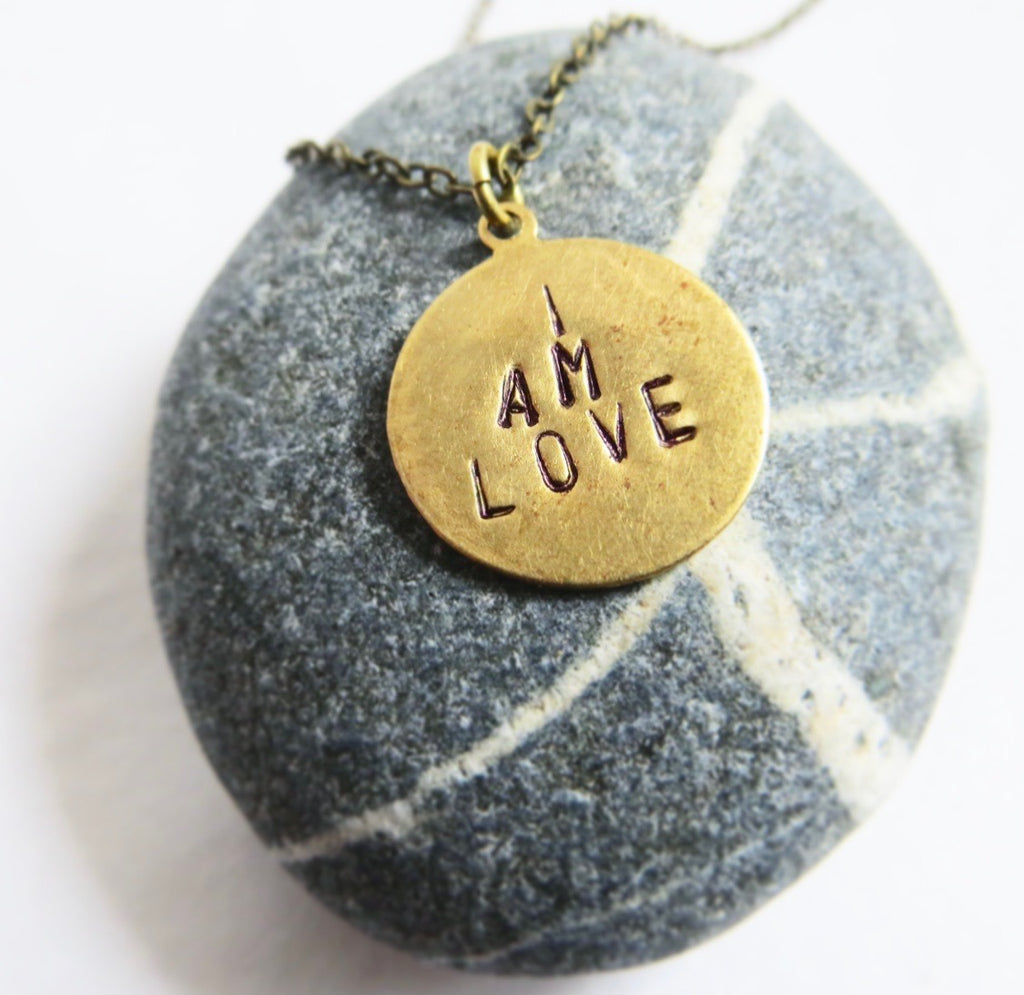 """I AM LOVE"" mantra necklace"