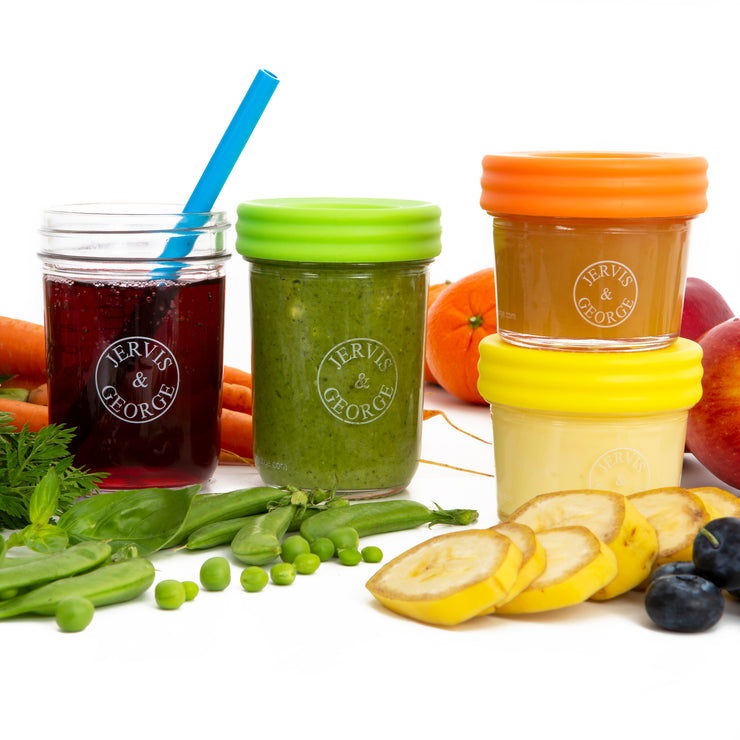 Glass Baby Food Storage Container Assorted 6PK