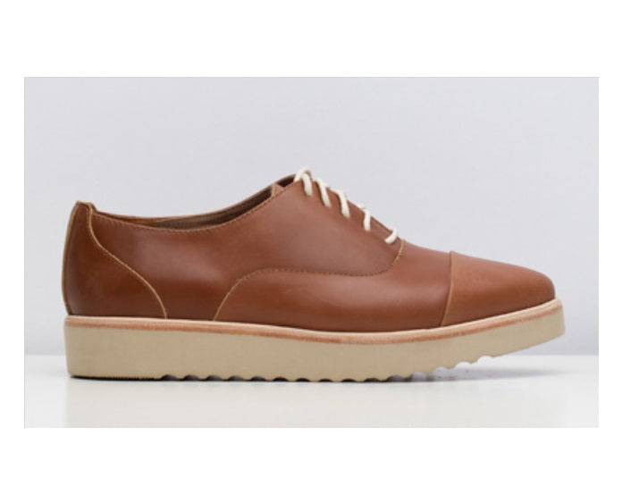 Madison Oxford Wedge Brown