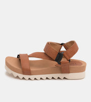 Sandal Tooth Wedge Cognac