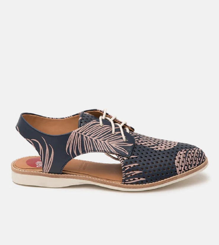 Slingback Punch Navy/Pink Palm