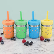 10oz Stainless Steel Mason Jar 4PK (Green/Orange/Blue/Yellow)
