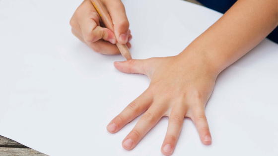 Tracing Hands, Feet or Body