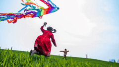 Flying Kites with Toddlers