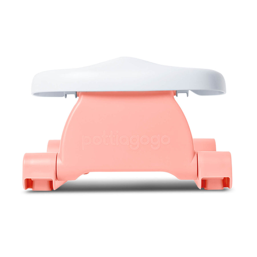 Folding travel potty - flamingo pink