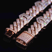 15MM Mariner  Diamond Cuban Bracelet (Rose Gold)
