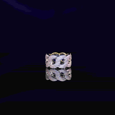 Cuban Diamond Ring (White Gold)