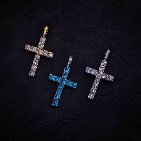 IcyWorld Diamond Cross (Bule)