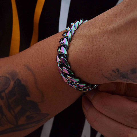 12MM Magic Color Cuban Bracelet