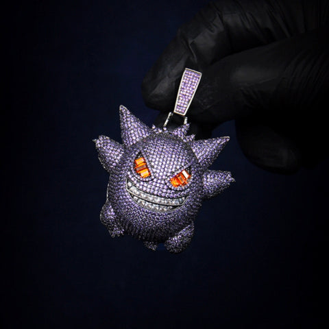 "Pokemon ""Gengar"" Diamond Pendant"