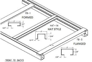 "PALLET SUPPORT - 42"" - HAT SECTIONS"
