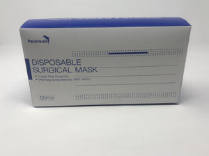 3-ply disposable surgical mask, 50 masks in a box