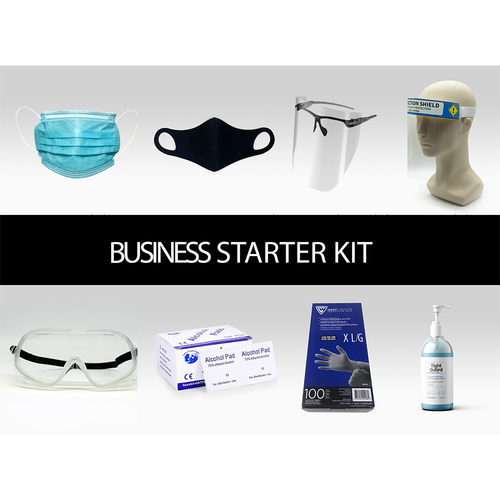 Business Starter PPE Kit: everything you need to operate your business. Ideal for small retail, dental, medical offices, etc.