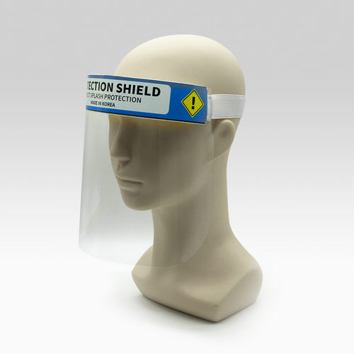 Safety Face shield with Anti-fog. Protective film on both sides. Full face protection masks from dust, viruses, particles, etc.