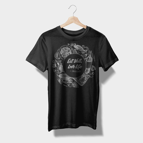 Eat Well, Love Life Illustrated T-Shirts