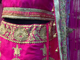 Mudita: Hot pink bridal lehnga set